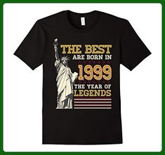Mens Legends The Best born in 1999 18th Birthday 18 Years Old 2XL Black - Birthday shirts (*Amazon Partner-Link)