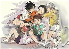 Haikyuu!! - Ushijima, Oikawa, Daichi, Kuroo and Bokuto