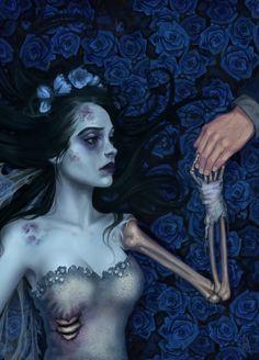 Goth:  #Corpse #Bride ~ Corpse Bride wedding inspiration.