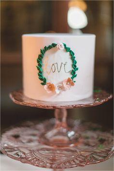 Stunning love wedding cake