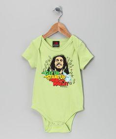 Lime 'Get Up, Stand Up' Bodysuit - Infant
