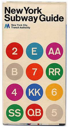 MasimoVignelli New York Subway Guide by Marcos Dopico, via Flickr