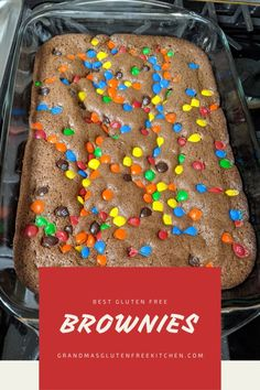 35 minutes · Gluten free · Serves 8 · Quick and Easy Fudgy Brownies made Gluten Free