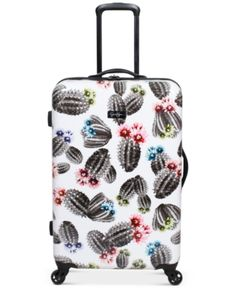 """Jessica Simpson Cactus Printed 25"""" Hardside Spinner Suitcase - White Efficient Packing, Cute Suitcases, Carry On Luggage, Girls Luggage, Travel Luggage, Travel Bags, Cactus Print, Mens Gift Sets, Baby Clothes Shops"""