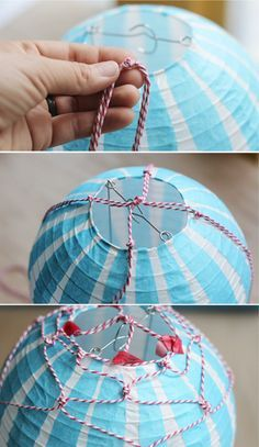 How to Make a Hot Air Balloons with paper lanterns- Vintage Style Hot Air Balloon Centerpieces, Diy Hot Air Balloons, Balloon Decorations, Hot Air Ballon Diy, Hot Air Ballon Nursery, Ballon Lampe, Balloon Crafts, Creation Deco, Ideias Diy
