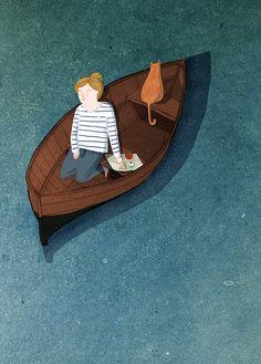 rowing boat by Lizzy Stewart #cat