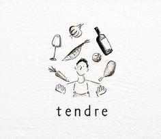 tendre|ロゴデザイン|カフェ飲食店中心のデザイン制作|Alnico Design