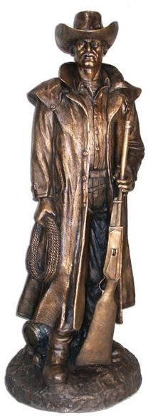 Cowboy in Duster, Bronze, Western Art, Western Cowboy, Celtic Knot Tattoo, Chess Sets, Native Indian, Terra Cotta, Bronze Sculpture, Home Decor Furniture, Wood Carving