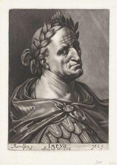 Johann Friedrich Leonard | Portret van keizer Galba, Johann Friedrich Leonard, 1643 - 1680 |