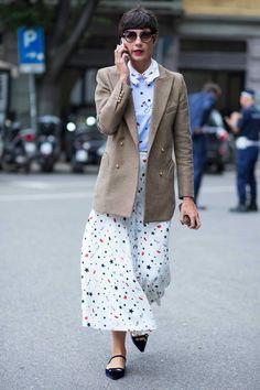 On the street at Milan Fashion Week. Photo: Chiara Marina Grioni/Fashionista.