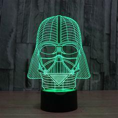 SmartEra/® Star Wars Fuerza Despertar 7 cambio del color del bot/ón del tacto del robot R2D2 /óptico 3D LED luz del escritorio de la ilusi/ón