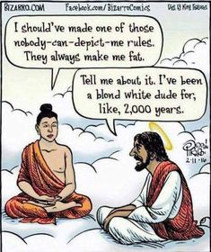 Wait I know he's depicted as white but I've always seen brunet Jesus where're the blond Jesuses?