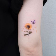 Butterfly Tattoos For Women, Tiny Tattoos For Girls, Butterfly Tattoo Designs, Small Words Tattoo, Hip Tattoo Small, Small Tattoos, Anklet Tattoos, Foot Tattoos, Body Art Tattoos