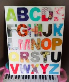 Dollar store alphabet diy