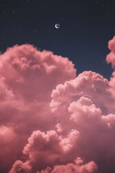 Mond zwei im nächtlichen Himmel whatsapp wallpaper - Wallpaper Ideas Pink Clouds Wallpaper, Night Sky Wallpaper, Iphone Background Wallpaper, Tumblr Wallpaper, Nature Wallpaper, Wallpaper Wallpapers, Galaxy Wallpaper Iphone, Dark Wallpaper, Wallpaper Ideas