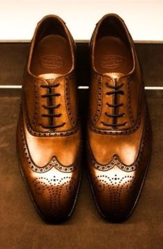 Crockett and Jones - Cognac Wing Tips Me Too Shoes, Men's Shoes, Shoe Boots, Dress Shoes, Boys Shoes, Nike Shoes, Gentleman Shoes, Gentleman Style, Sharp Dressed Man