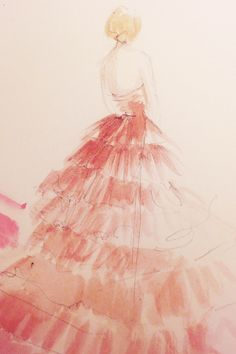 What Your Favorite Met Dresses Look Like As Art #refinery29  http://www.refinery29.com/2014/05/67482/met-gala-sketches#slide14  Move over, Degas; this drawing of Suki Waterhouse in a Burberry design wouldn't look out of place hanging at the Met itself.