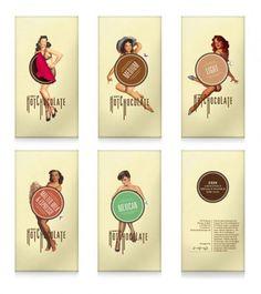 O vintage é caracterizado pela combinação de tipografia (muitas vezes mais rebuscada e pesada) e cores e formas fortes. E este conceito não é diferente qua