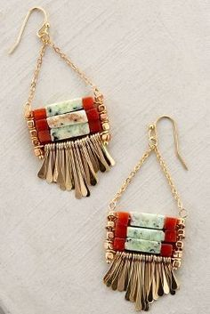 Boho Jewelry Anthropologie Jata Earrings More - Fine Or Fashion:Fashion Item Type:Anklets Style:Trendy Boho Jewelry, Jewelry Box, Jewelry Accessories, Fashion Accessories, Handmade Jewelry, Fashion Jewelry, Jewelry Making, Cheap Jewelry, Fine Jewelry