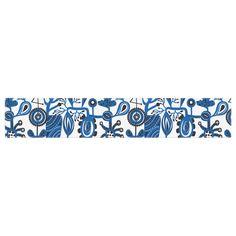 """Agnes Schugardt """"Dream"""" Blue White Table Runner"""