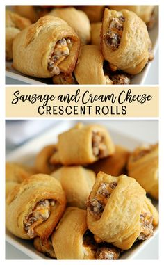 You'll love these Sausage Cream Cheese Crescent Rolls! You'll love these Sausage Cream Cheese Crescent Rolls!You'll love these Sausage Cream Cheese Crescent Rolls! Crescent Roll Appetizers, Cream Cheese Crescent Rolls, Crescent Roll Recipes, Sausage Crescent Rolls, Stuffed Crescent Rolls, Breakfast Bites, Breakfast Recipes, Breakfast Hash, Diet Breakfast