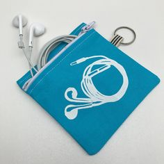 Handmade pouch with screen-printed earphone design, perfect for keeping your earphones tidy. Sterling Silver Toe Rings, Silver Ear Cuff, Earphone Pouch, Motorcycle Birthday, Cute Gifts For Her, Purple Candy, Heart Keyring, Gift Card Boxes, Heart Decorations