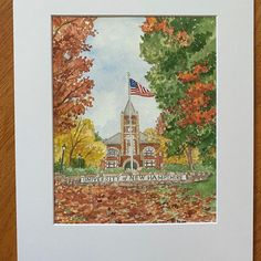 University of New Hampshir. Custom watercolor painting. Graduation gift. First Home Gifts, New Home Gifts, Personalized Housewarming Gifts, House Illustration, House Drawing, Hand Sketch, Watercolor Artwork, House Paintings, Custom Paint