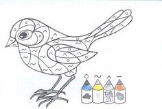 Baby Crafts, Diy And Crafts, Crafts For Kids, Vogel Clipart, Feeding Birds In Winter, Color By Numbers, Educational Crafts, Small Quilts, Types Of Art
