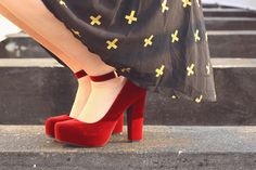 Dorothy would definitely approve of these #suede #ruby heels.