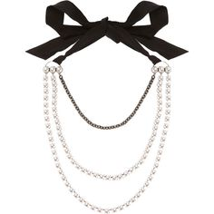 Lanvin White Pearls Necklace (52,375 PHP) ❤ liked on Polyvore featuring jewelry, necklaces, knot jewelry, pearl chain necklace, lanvin, white pearl necklace and pearl jewellery