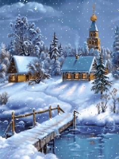gif'- Eine von 2386 Dateien in der Kategor… funny picture & # Winter Feeling.gif – One of 2386 files in the category & # animated pictures & # on FUNPOT. Merry Christmas Gif, Merry Christmas Pictures, Christmas Scenery, Winter Scenery, Christmas Art, Winter Christmas, Victorian Christmas, Country Christmas, Vintage Christmas