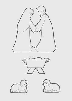 Gingerbread Nativity pattern and tutorial. Cookie Nativity Scene with Mary, Joseph and Baby Jesus in a stable Outdoor Nativity Scene, Diy Nativity, Christmas Nativity Scene, Nativity Scenes, Christmas Cake Designs, Christmas Templates, Christmas Projects, Christmas Printables, Christmas Baking