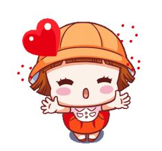 LINE Creators' Stickers - happy to goto Example with GIF Animation Cute Cartoon Pictures, Cute Love Cartoons, Gif Pictures, Funny Videos, Gif Bonito, Bisous Gif, Gif Lindos, Welcome Gif, Hug Gif