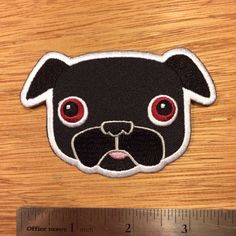 Tricky Black Pug Patch