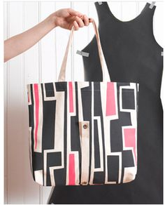 Canvas roll-up totes. So cute, and handprinted in Brooklyn.