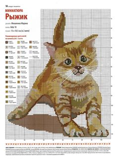 Cross Stitch, Kitten Pattern