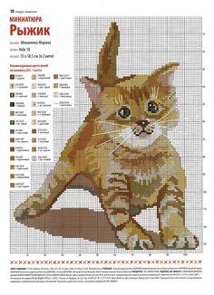 Cross Stitch, Kitten Pattern