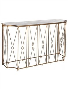Marlene Console Table with Antique Mirror