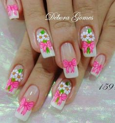 Get free high quality hd wallpapers unhas decoradas com flores Toe Designs, Nail Art Designs, Hair And Nails, My Nails, Finger, Bath And Beyond Coupon, Gold Eyes, French Nails, Manicure And Pedicure
