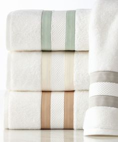 Striped soft towel set