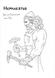 Hephaestus Coloring Page Greek God Mythology Unit Study By on NEO Coloring Pages 6181 Greek Goddess Of Wisdom, Greek Gods And Goddesses, Disney Princess Coloring Pages, Disney Princess Colors, Apollo Greek Mythology, Free Printable Sewing Patterns, Percy Jackson Ships, Greek Art, Coloring Pages For Kids