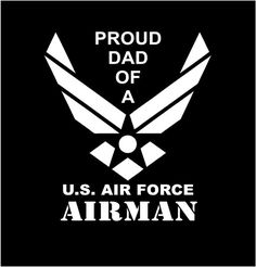 US Air Force Proud Mom Proud Dad Vinyl Decal car truck auto