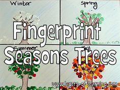 Seasons Craft... Fingerprint Seasons trees