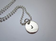 Mother's Necklace style. Personalized, custom, charm necklace. Wear the initial of your loved one around your neck. Your boyfriend, girlfriend, fiancé, wife, husband, daughter, son. Or wear your own initial.  From Timbro D'Amore Boutique.