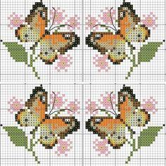 Butterfly Cross Stitch, Cross Stitch Bird, Cross Stitch Alphabet, Cross Stitch Animals, Cross Stitch Charts, Cross Stitch Designs, Cross Stitching, Cross Stitch Embroidery, Cross Stitch Patterns