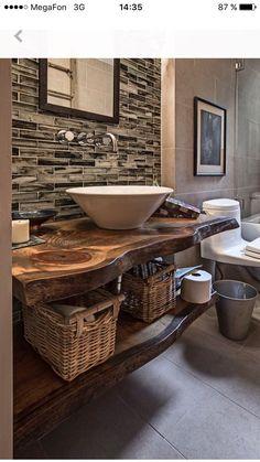 Купить Столешница из слэба в уборную. - мебель из массива, слэб, мебель из слэба, столешница, ванная комната