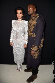 Kim Kardashian in Front Row at Balmain