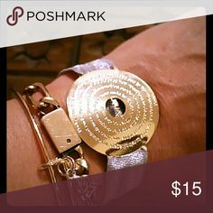 Spotted while shopping on Poshmark: 18k gold plated Padre nuestro Spanish! #poshmark #fashion #shopping #style #Jewelry