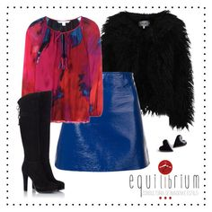 """""""Red and Blue"""" by xiruletinha on Polyvore featuring Dry Lake, Courrèges, Diane Von Furstenberg and Fratelli Karida"""