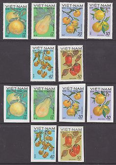 Viet Nam Dep Rep Sc 560-565 NGAI. 1969 Fruits, perf & imperf cplt VF